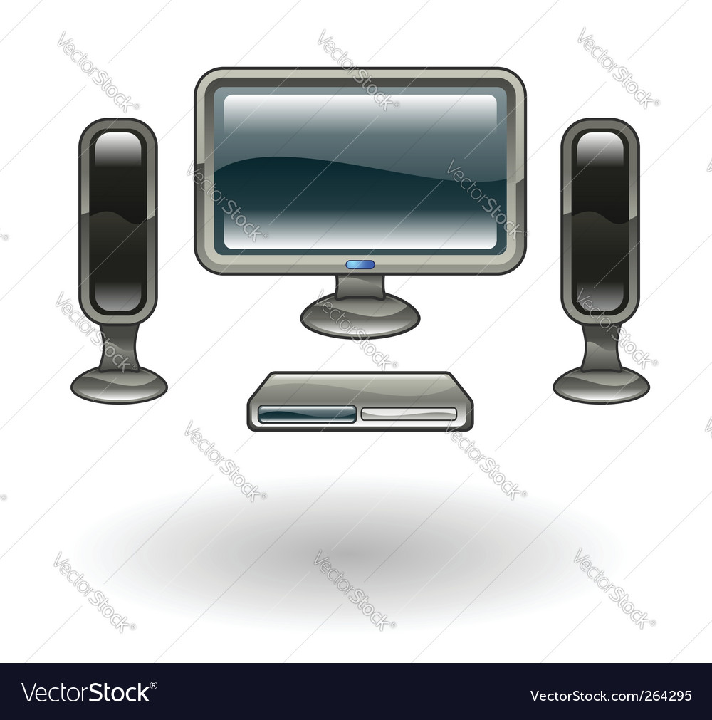 Home cinema illustration vector | Price: 1 Credit (USD $1)