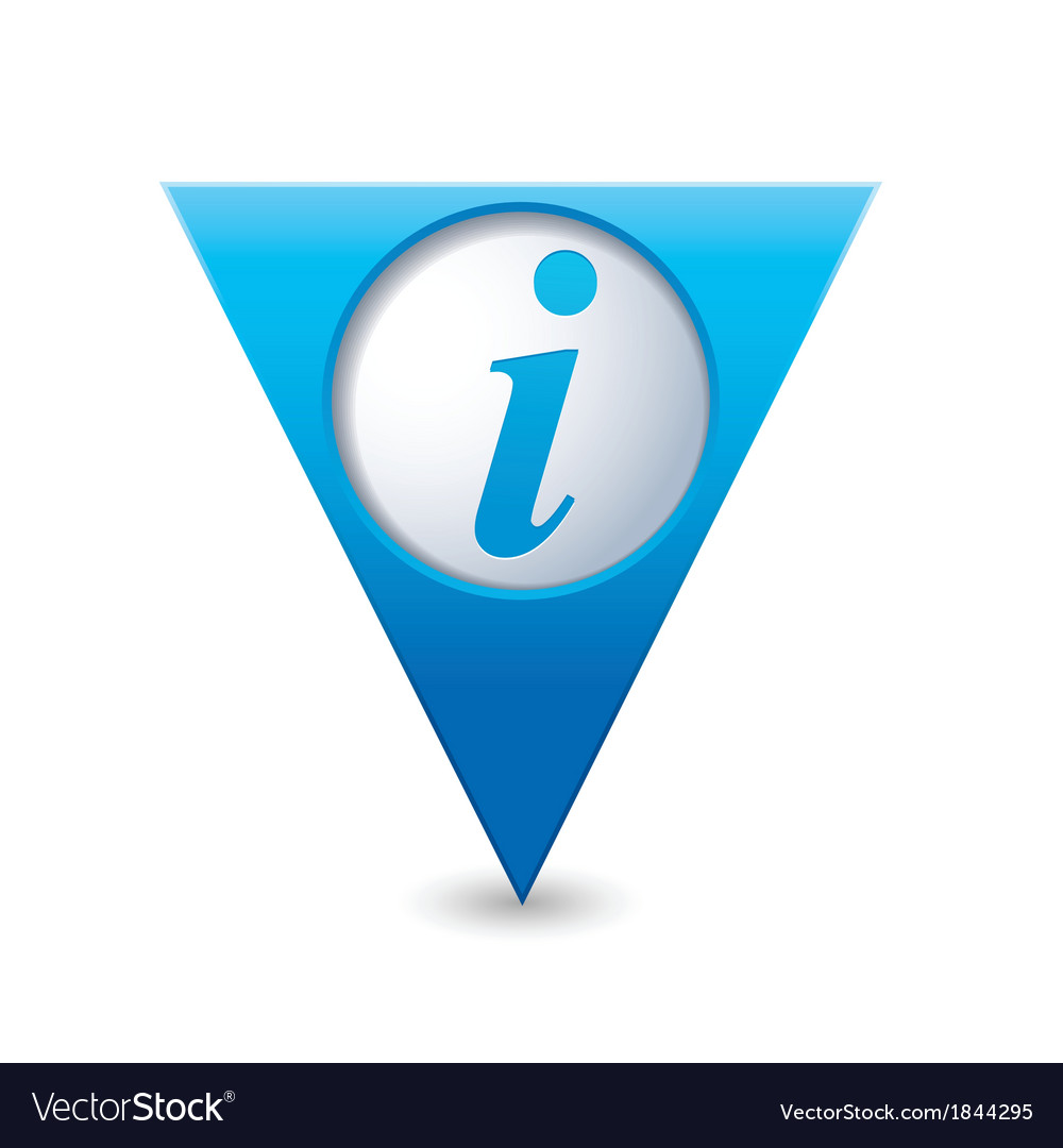 Information icon map pointer blue vector | Price: 1 Credit (USD $1)