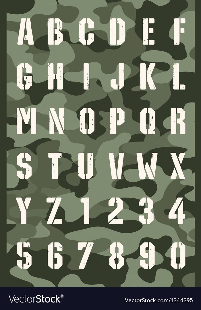 Original stencil font vector | Price: 1 Credit (USD $1)
