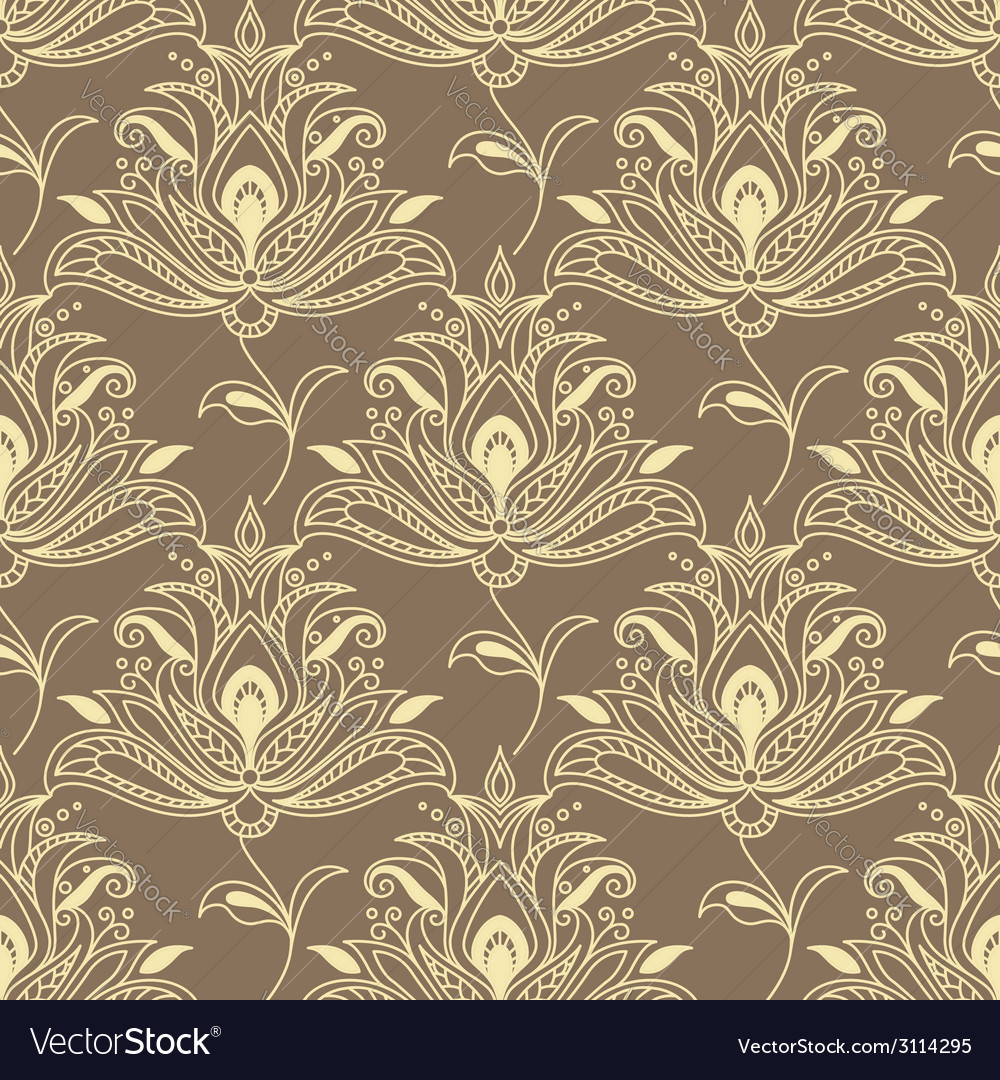 Persian floral seamless background pattern vector | Price: 1 Credit (USD $1)