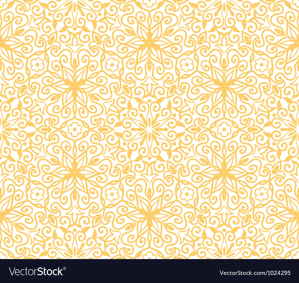 Seamless yellow pattern on white background vector | Price: 1 Credit (USD $1)