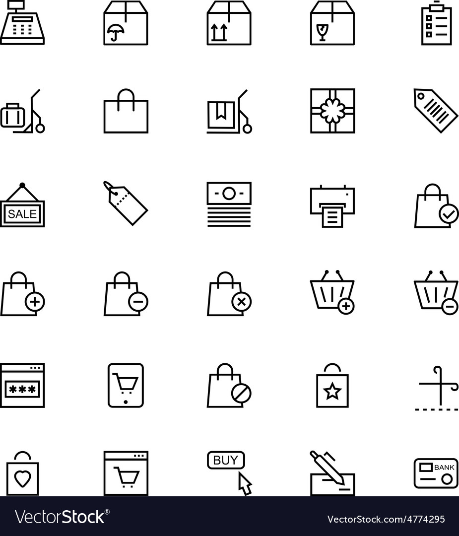 Shopping and commerce 2 vector | Price: 1 Credit (USD $1)