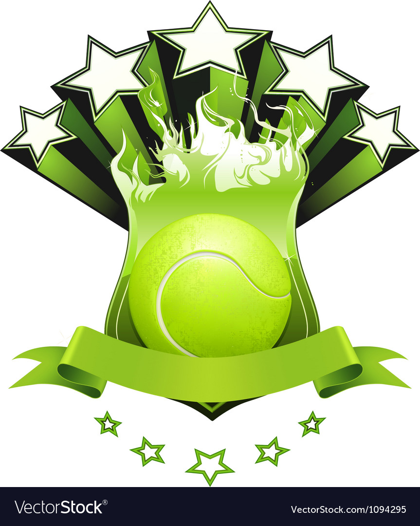 Tennis emblem vector | Price: 1 Credit (USD $1)