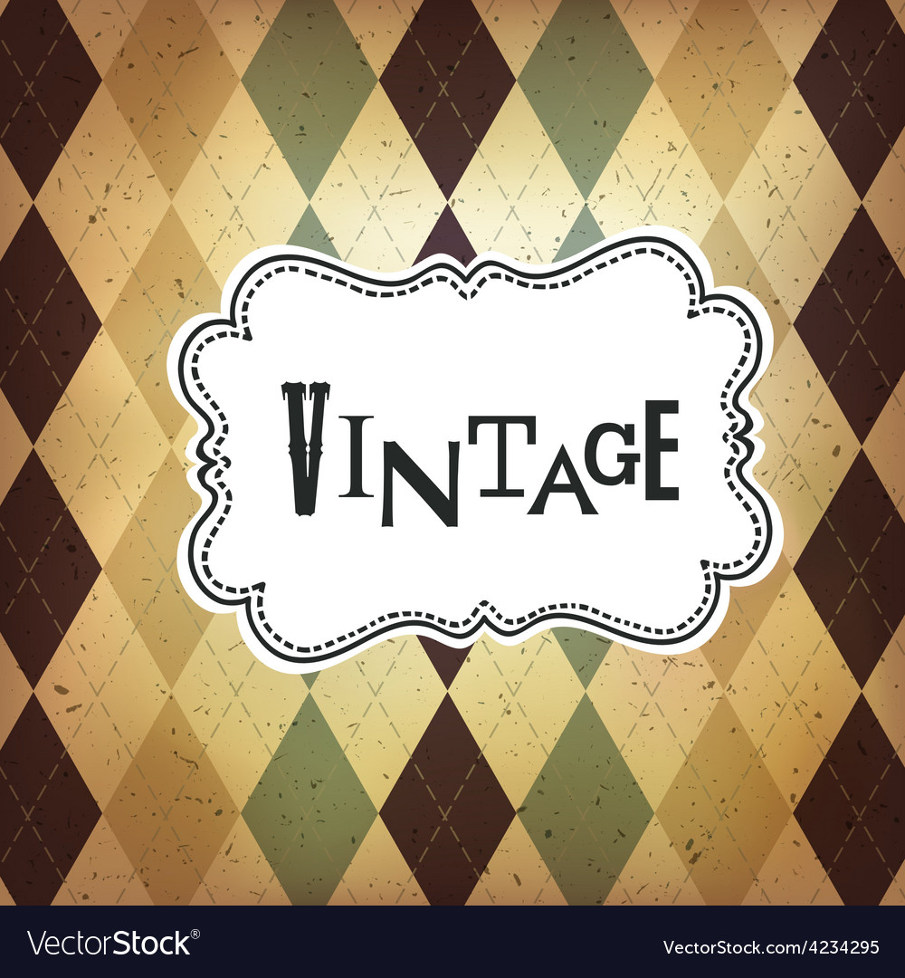 Vintage retro card vector | Price: 1 Credit (USD $1)