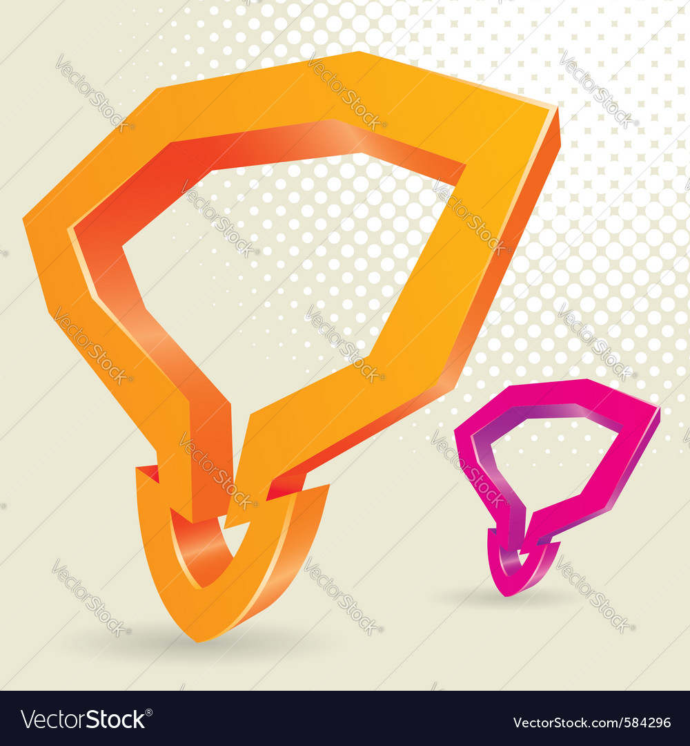 Abstract 3d arrow vector | Price: 1 Credit (USD $1)