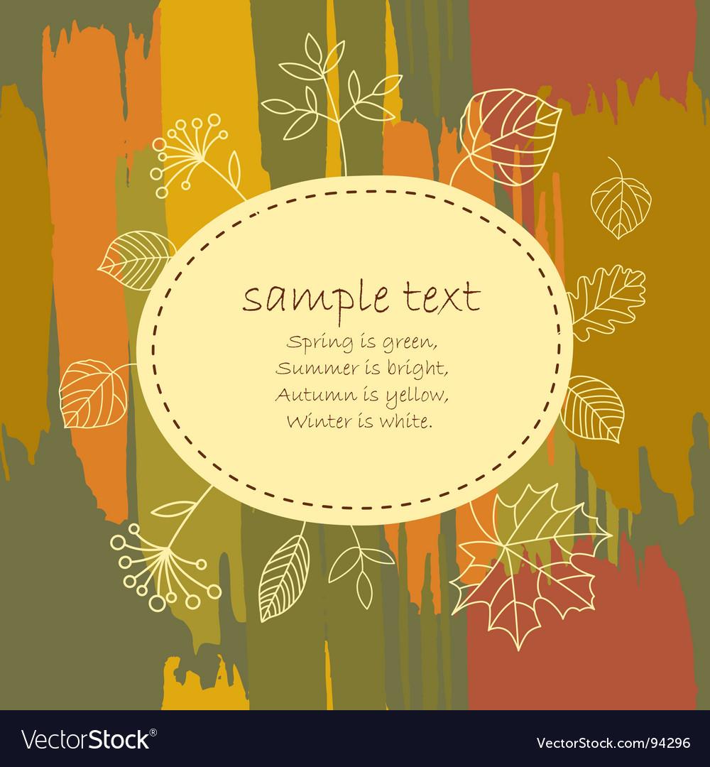 Autumn banner vector | Price: 1 Credit (USD $1)