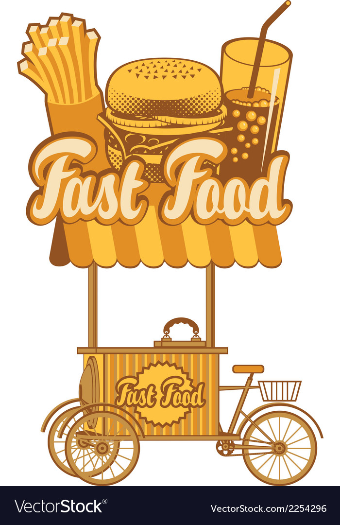 Fast food tray vector | Price: 1 Credit (USD $1)
