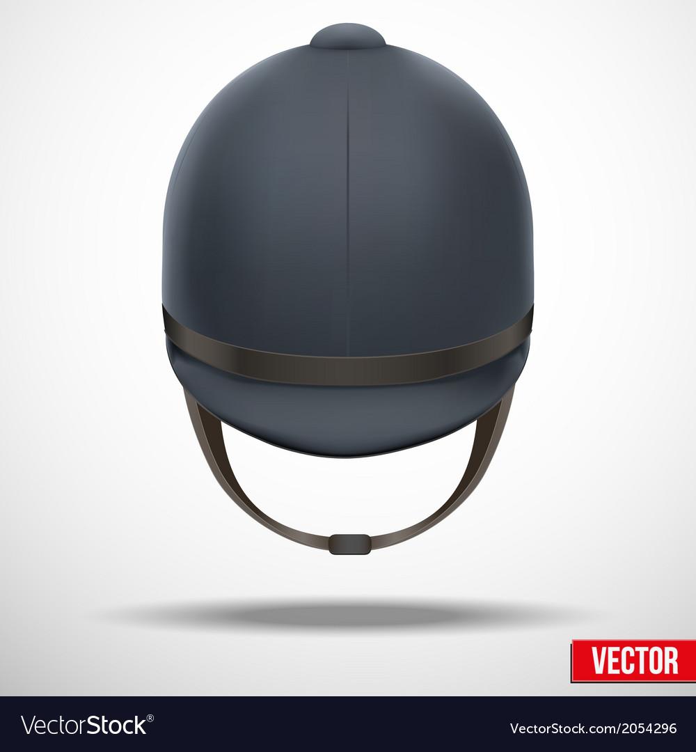 Jockey helmet for horseriding athlete vector | Price: 1 Credit (USD $1)