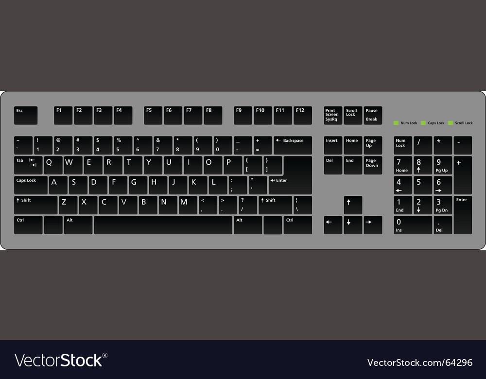 Keyboard blac vector | Price: 1 Credit (USD $1)