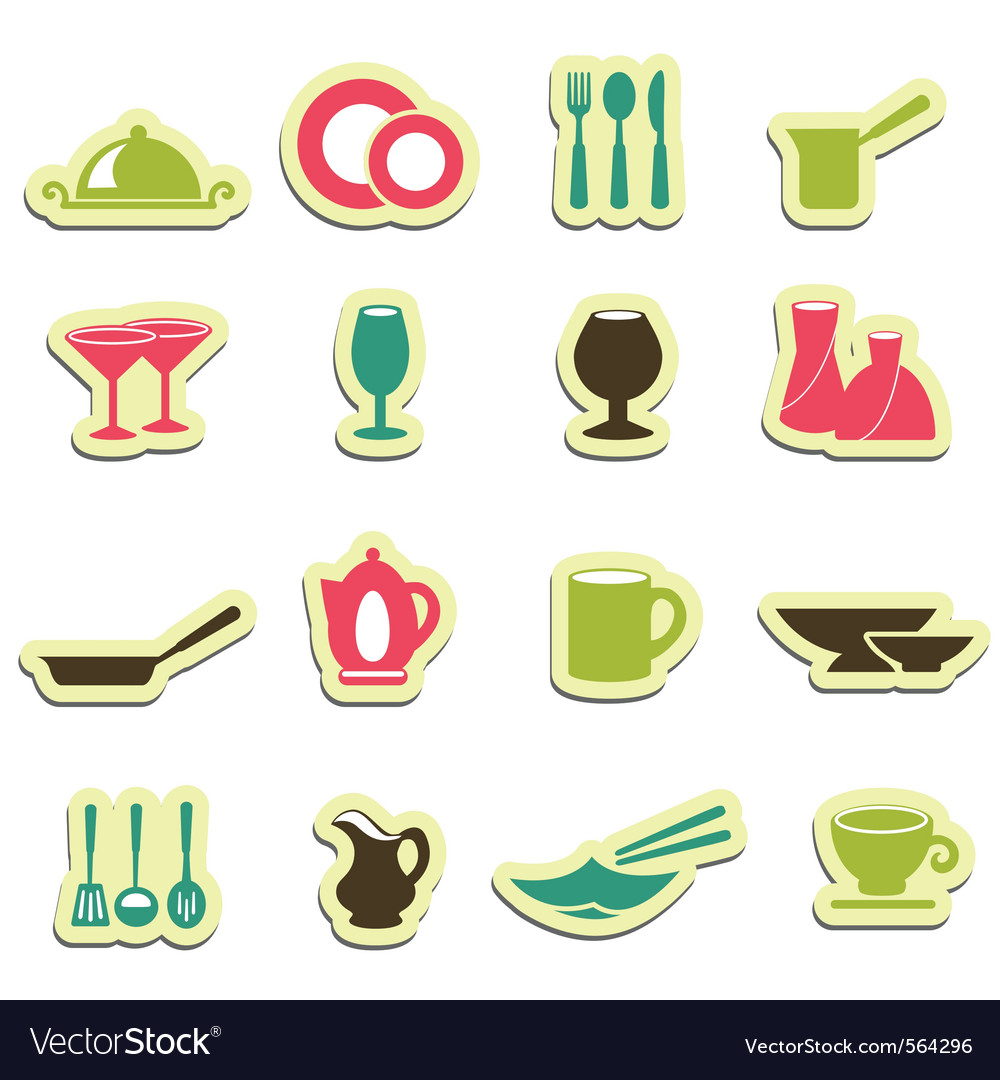 Kitchen utensil icons vector | Price: 1 Credit (USD $1)