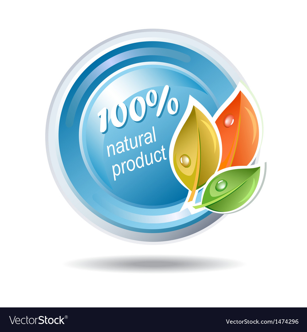 Natural product ecologic icon vector | Price: 1 Credit (USD $1)