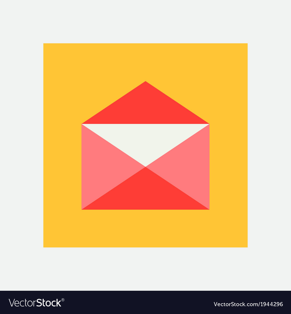 Open envelope icon vector | Price: 1 Credit (USD $1)
