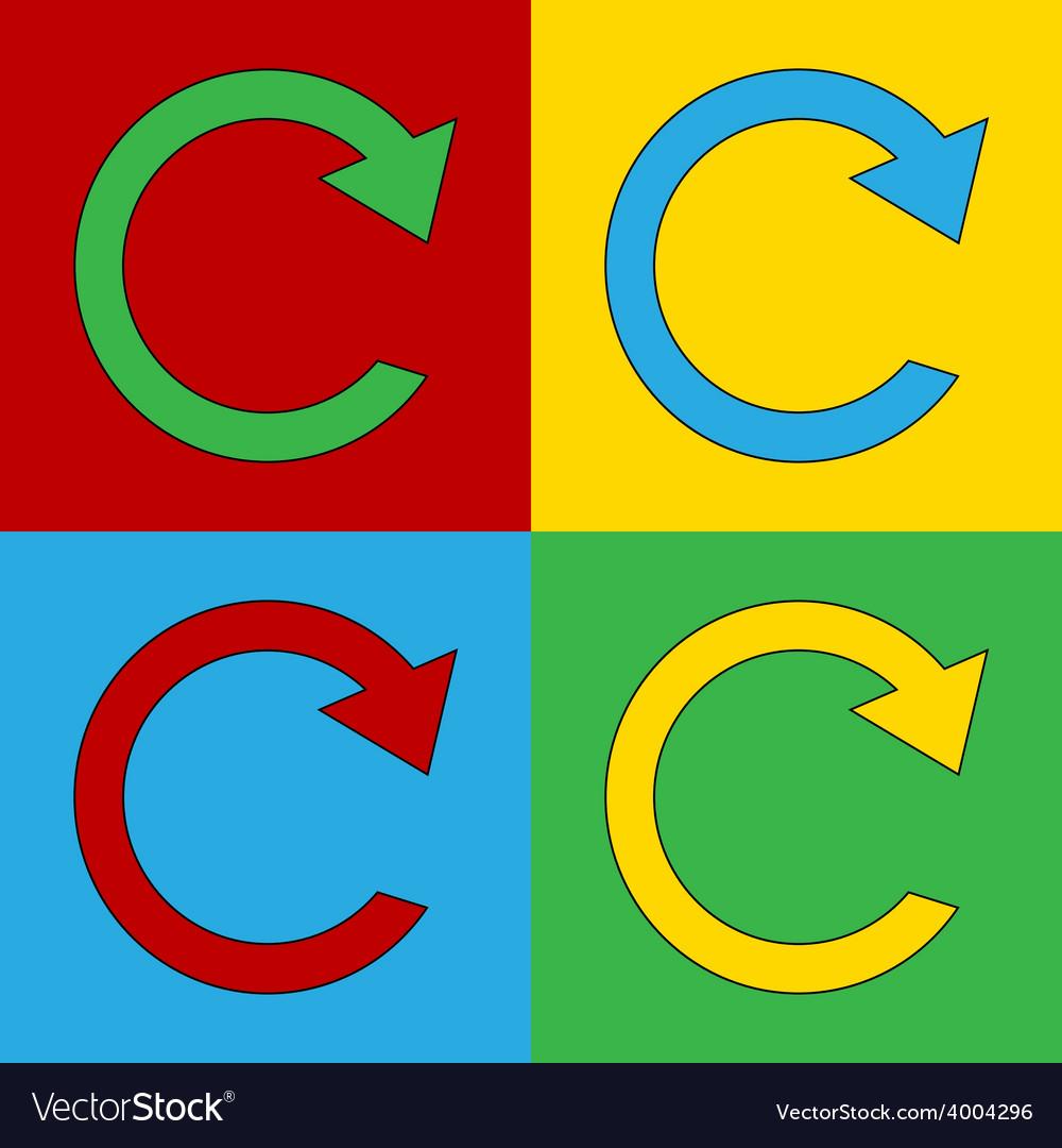 Pop art repeat icons vector | Price: 1 Credit (USD $1)