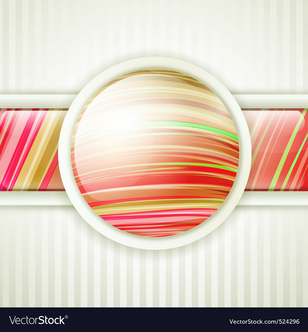 Round button frame vector | Price: 1 Credit (USD $1)