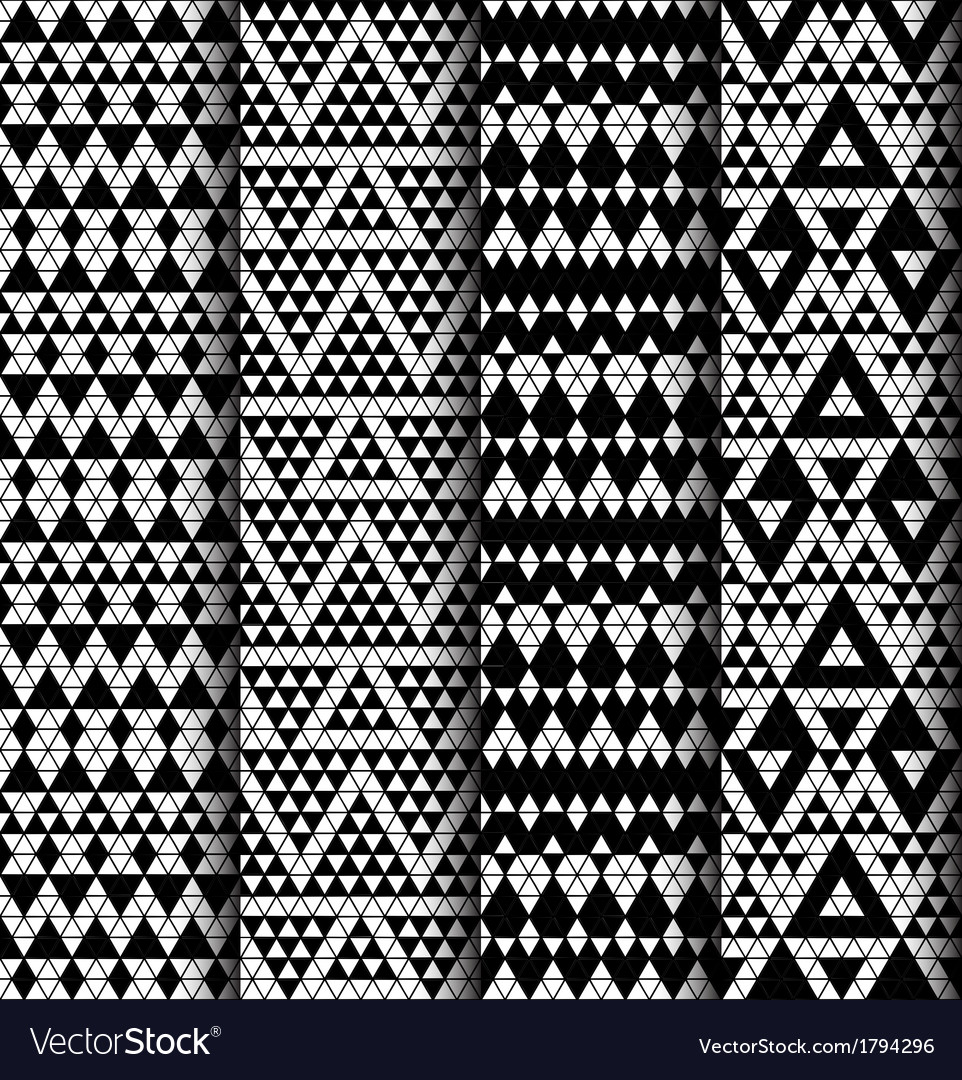 Set of four patterns vector | Price: 1 Credit (USD $1)