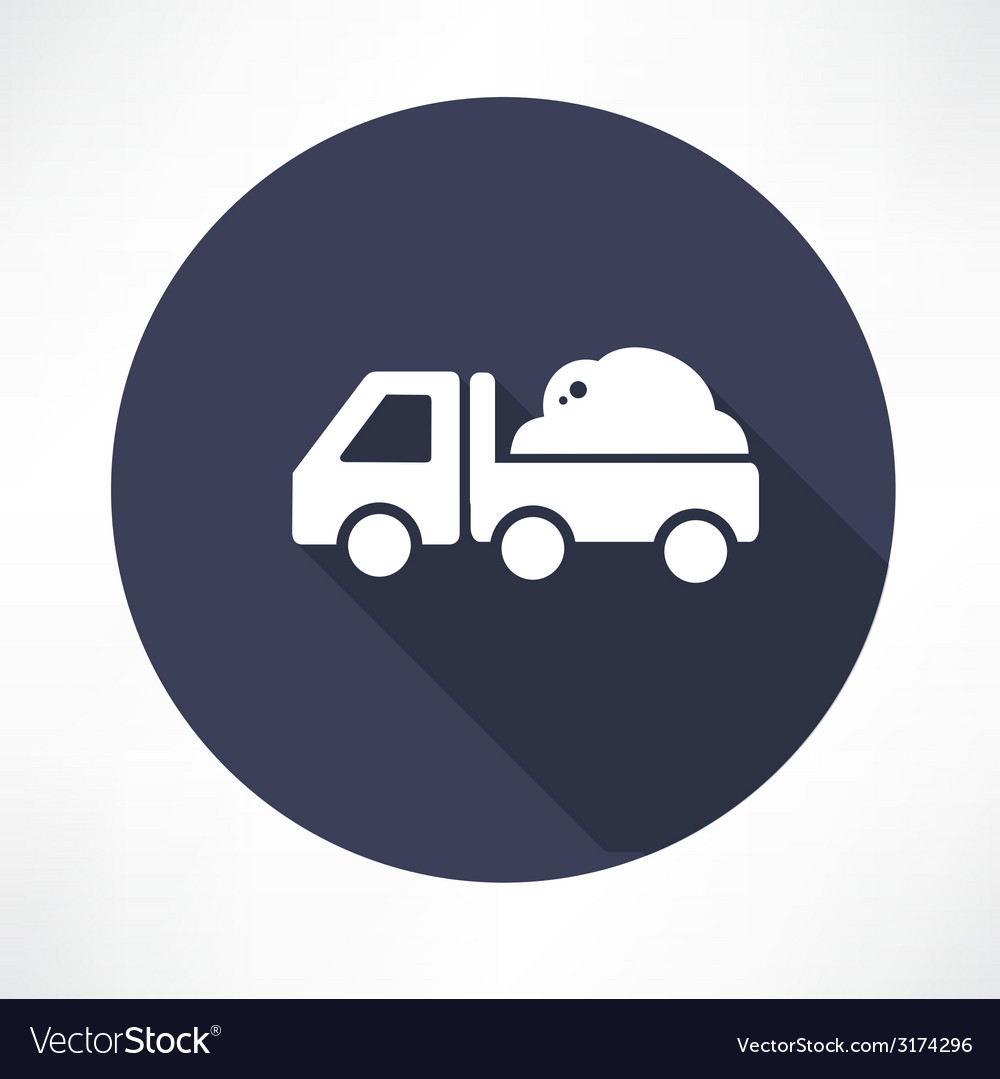 Truck with the ground icon vector | Price: 1 Credit (USD $1)