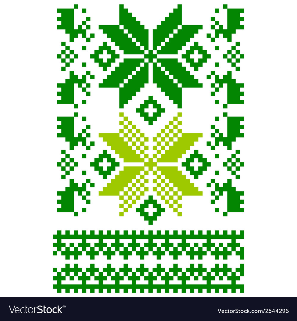 White knitted scandinavian scarf vector | Price: 1 Credit (USD $1)