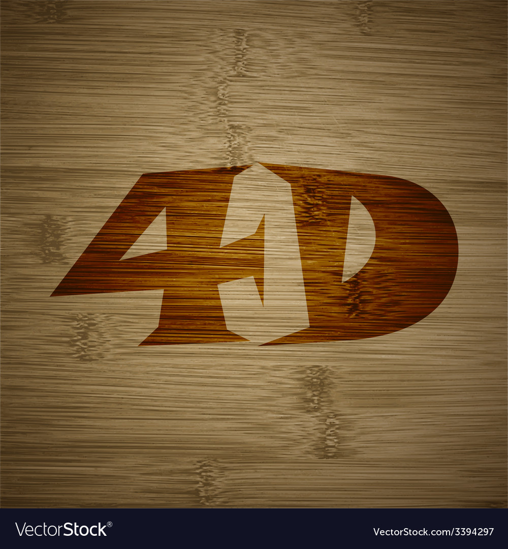 4d icon symbol flat modern web design with long vector | Price: 1 Credit (USD $1)