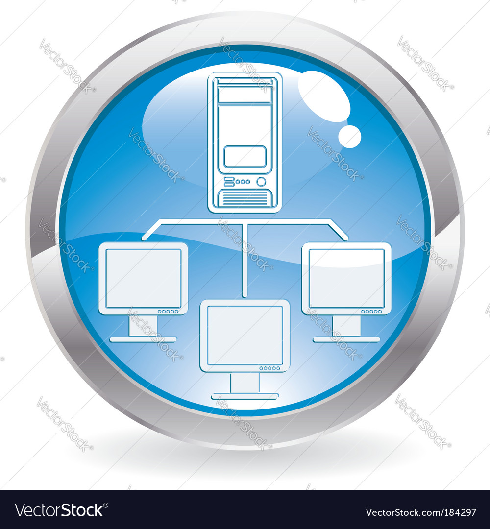 Computer network icon vector | Price: 1 Credit (USD $1)