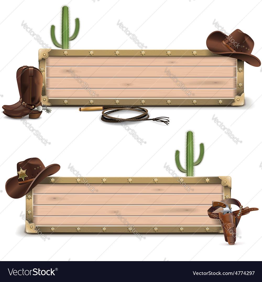 Cowboy signboards vector   Price: 5 Credit (USD $5)