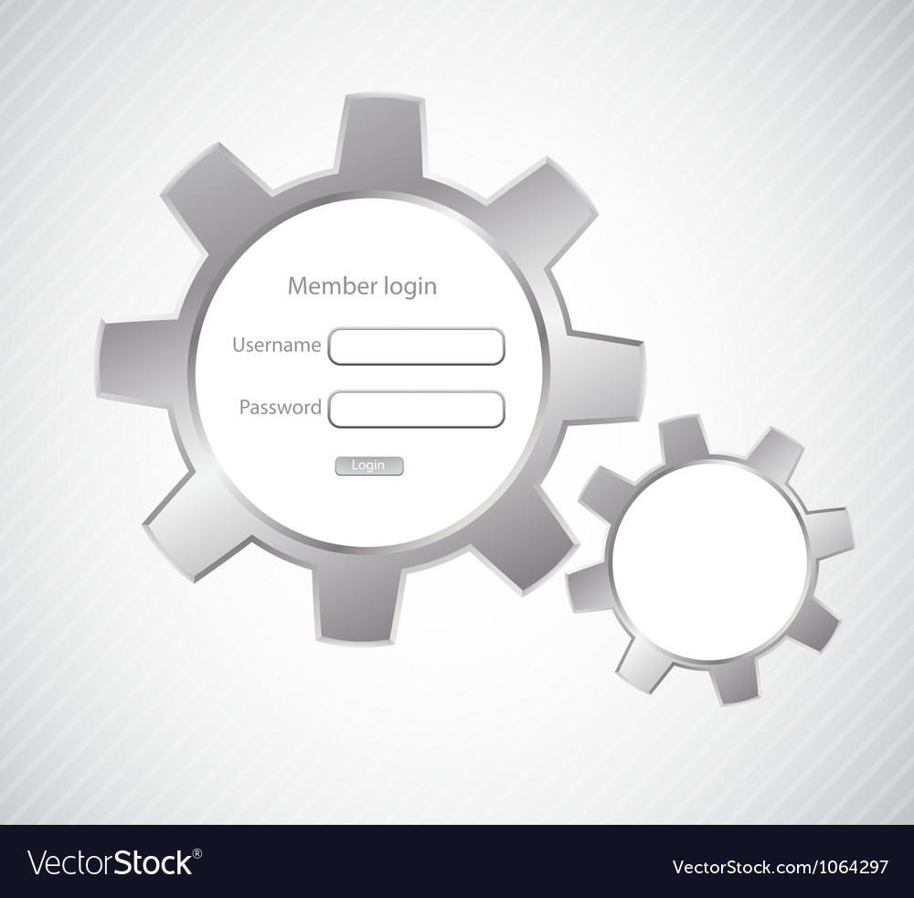 Login page vector | Price: 1 Credit (USD $1)
