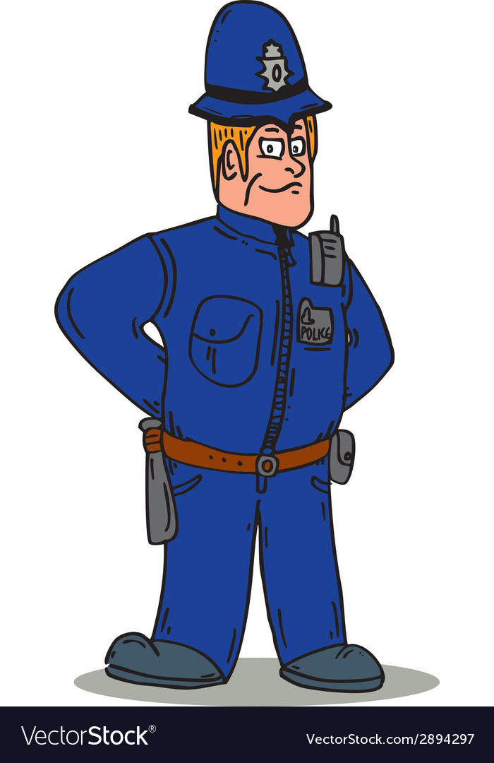 London policeman police officer cartoon vector | Price: 1 Credit (USD $1)