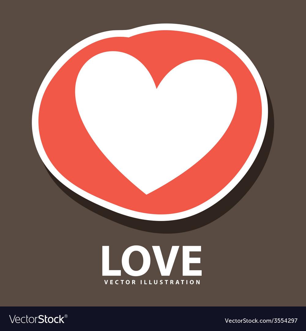 Love heart vector | Price: 1 Credit (USD $1)