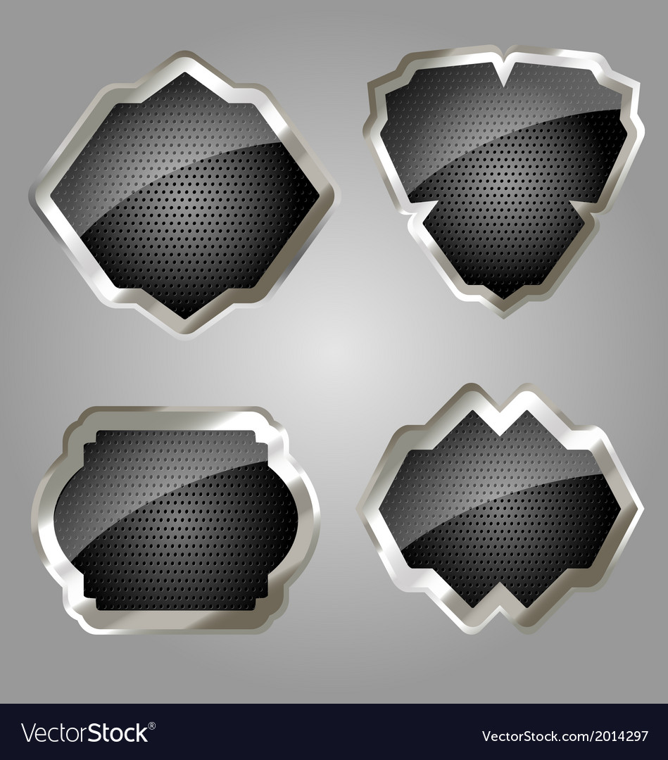 Metallic embleme shields collection vector   Price: 1 Credit (USD $1)