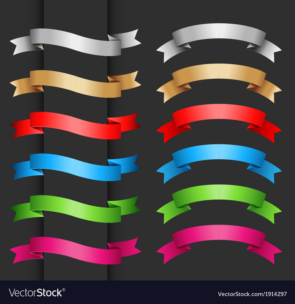 Set of ribbon banner for your text vector | Price: 1 Credit (USD $1)