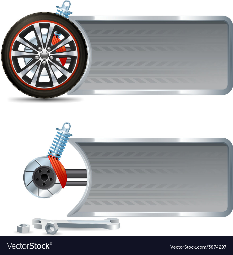 Tire service banners vector | Price: 1 Credit (USD $1)