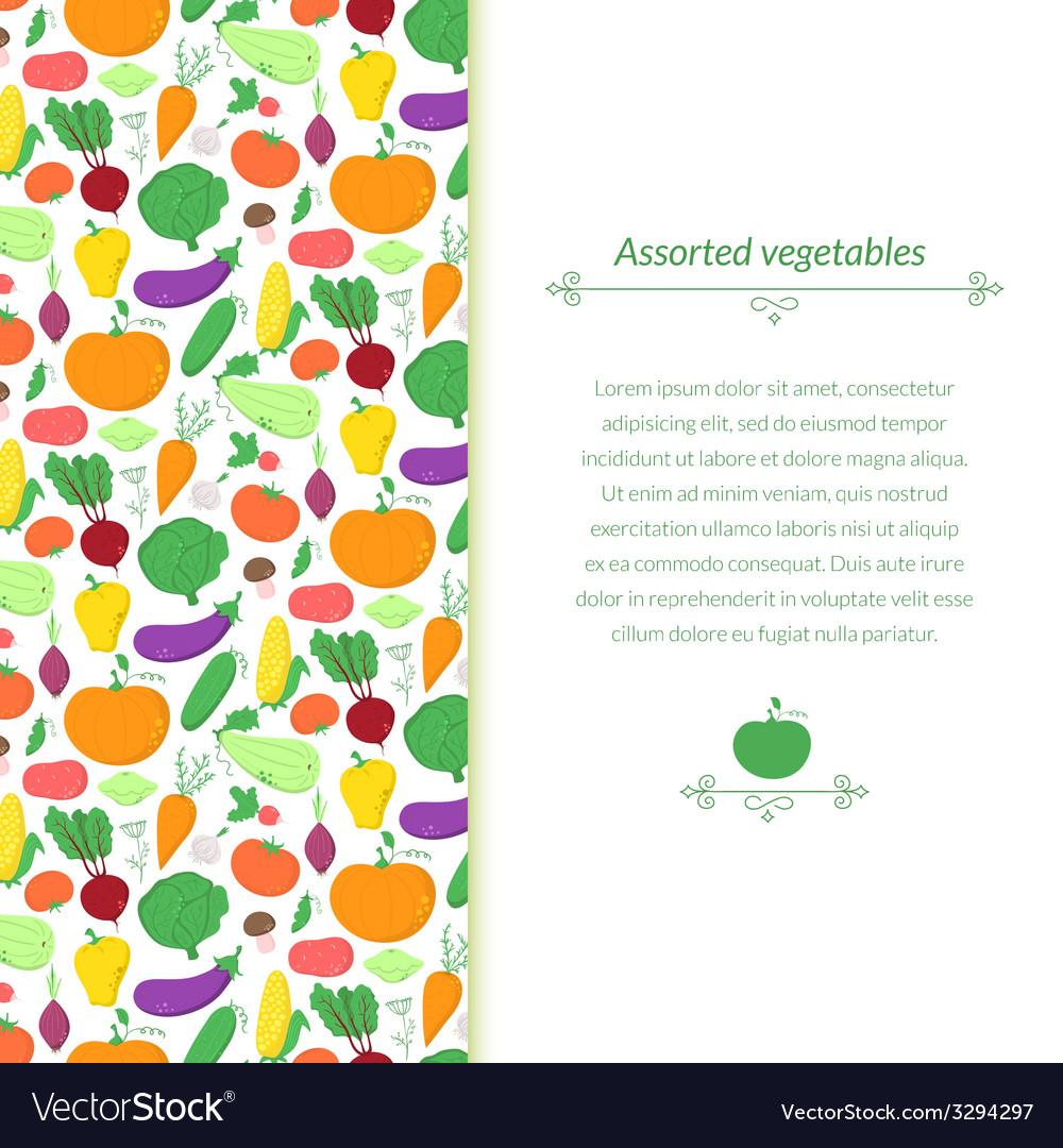 Vegetables background vector | Price: 1 Credit (USD $1)