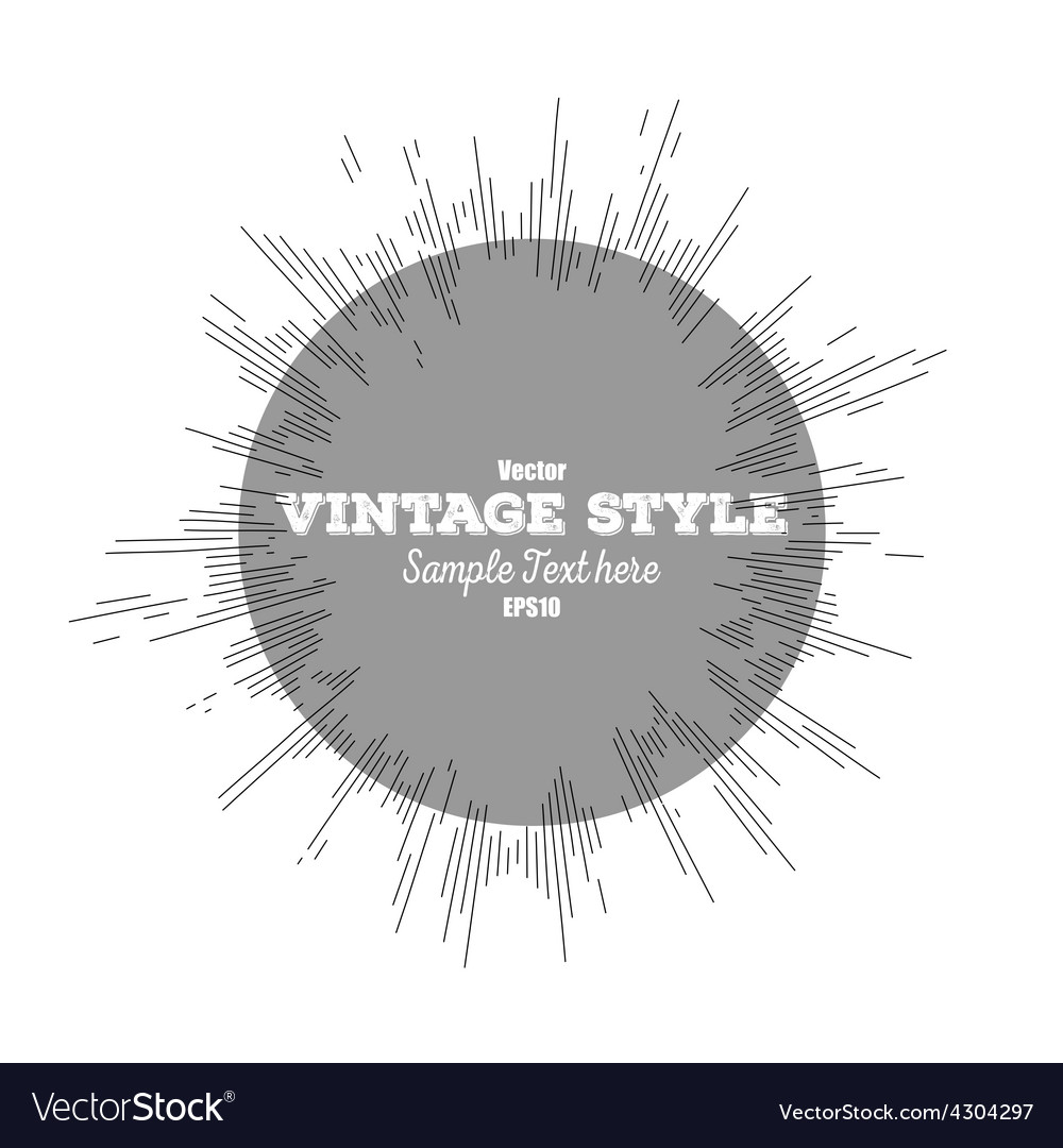 Vintage style star burst retro element for your vector | Price: 1 Credit (USD $1)