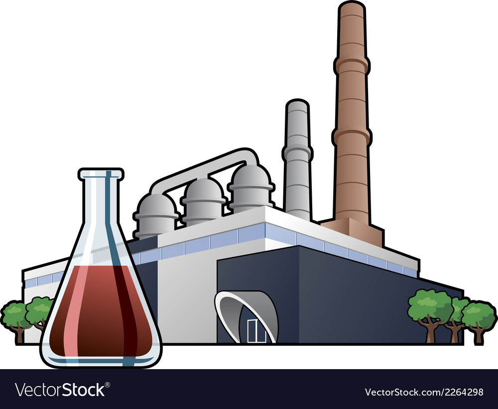 Chemicals factory vector | Price: 1 Credit (USD $1)