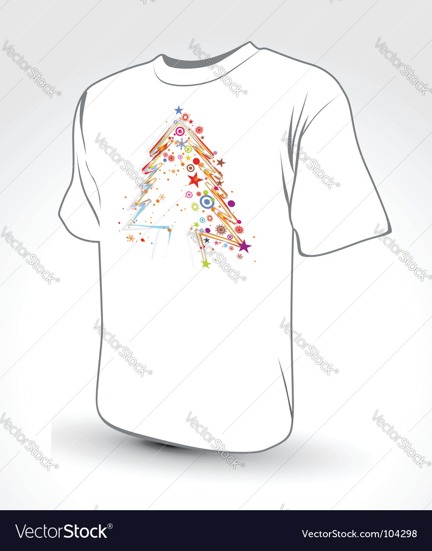 Christmas tree t-shirt vector | Price: 1 Credit (USD $1)