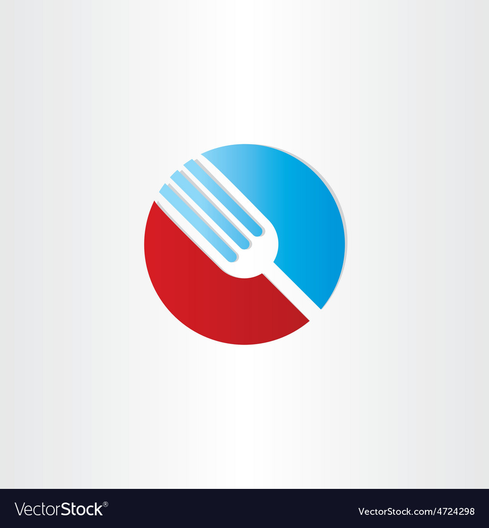 Circle fork restorant symbol vector | Price: 1 Credit (USD $1)