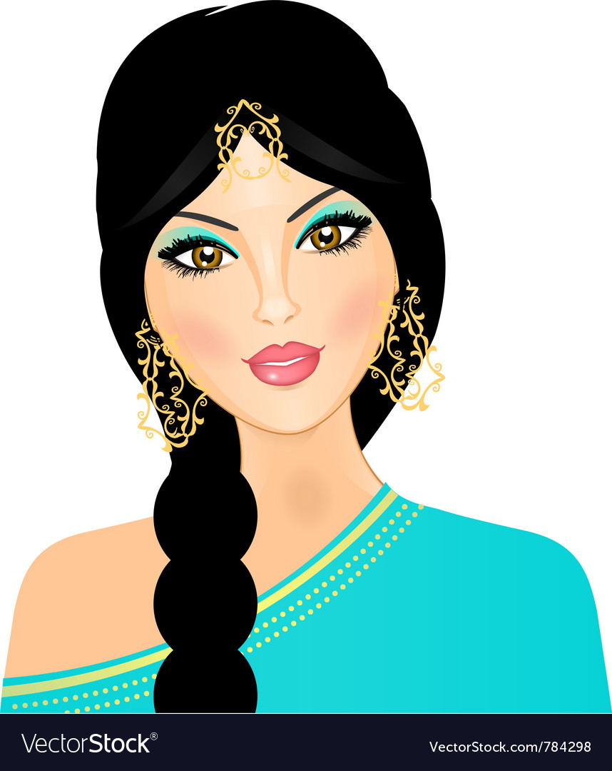 Eastern indian girl vector | Price: 3 Credit (USD $3)