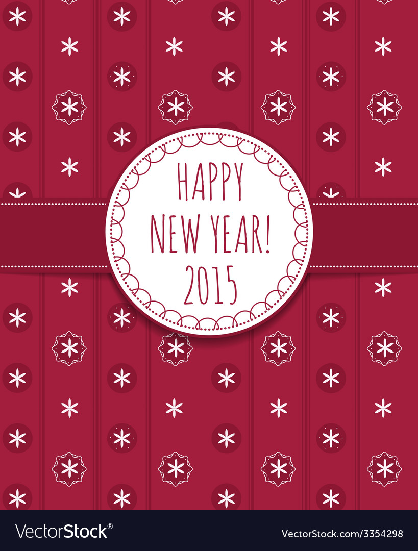 Holiday card happy new year 2015 vector | Price: 1 Credit (USD $1)