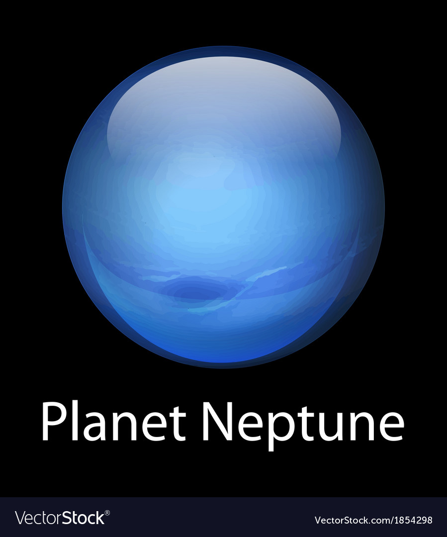 Planet neptune vector | Price: 1 Credit (USD $1)