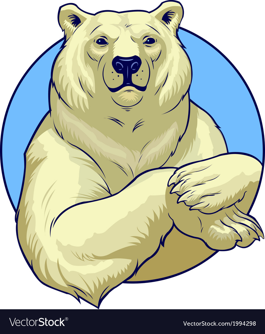 Polar bear vector | Price: 3 Credit (USD $3)