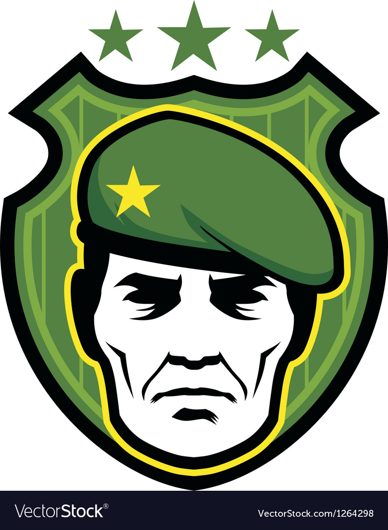 Soldier mascot vector | Price: 3 Credit (USD $3)