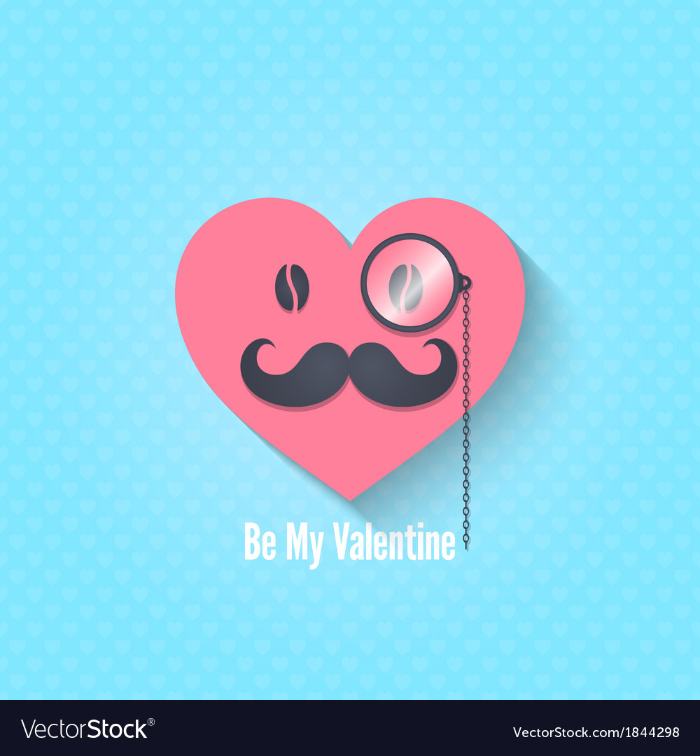 Valentines day character eyeglasses background vector | Price: 1 Credit (USD $1)