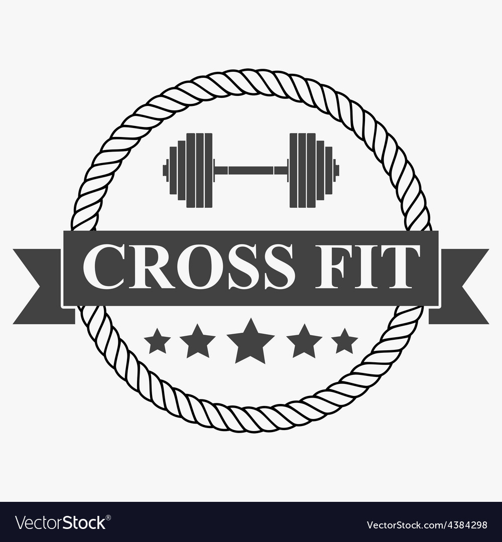 Vintage cross fit and workout labels vector | Price: 1 Credit (USD $1)
