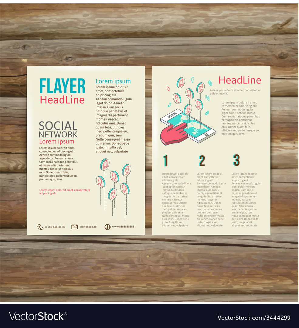 Abstract brochure flyer design template social vector | Price: 1 Credit (USD $1)