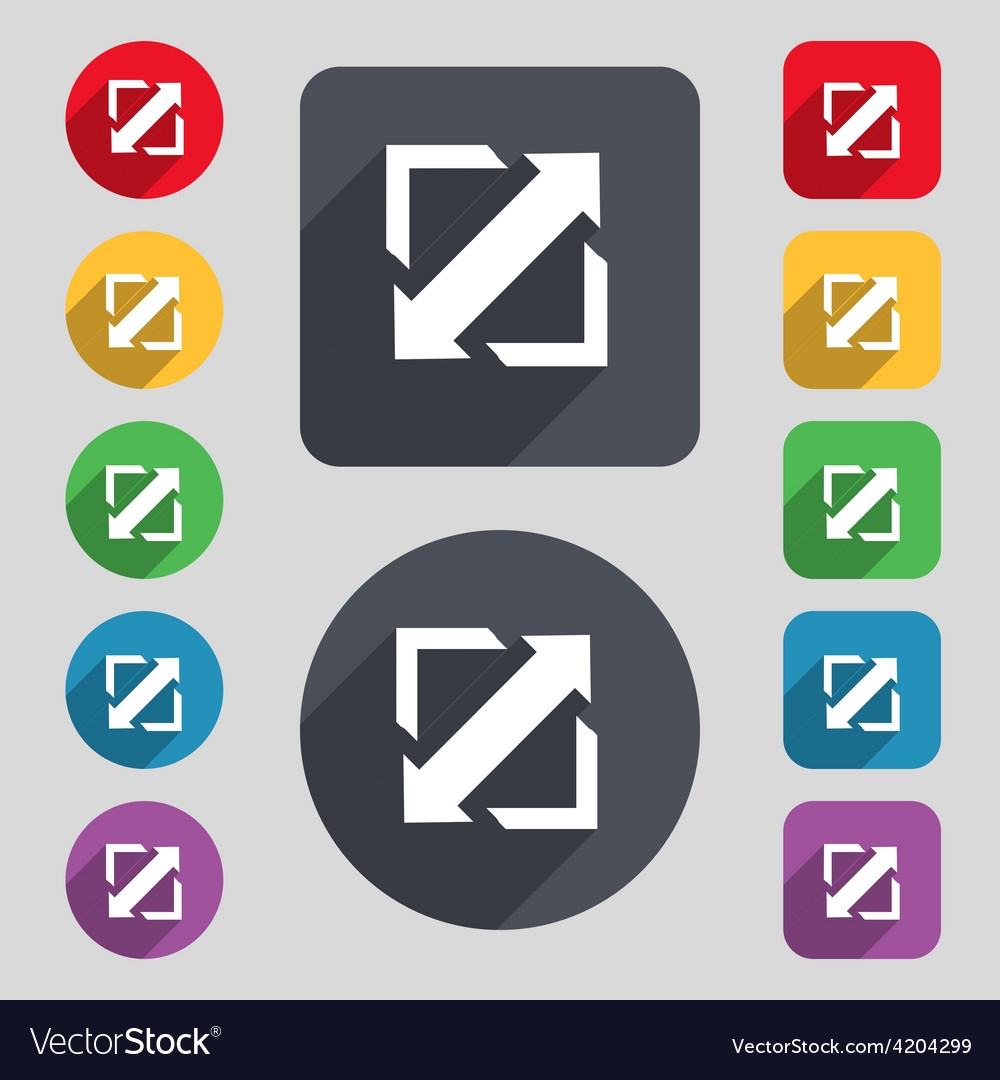 Deploying video screen size icon sign a set of 12 vector | Price: 1 Credit (USD $1)