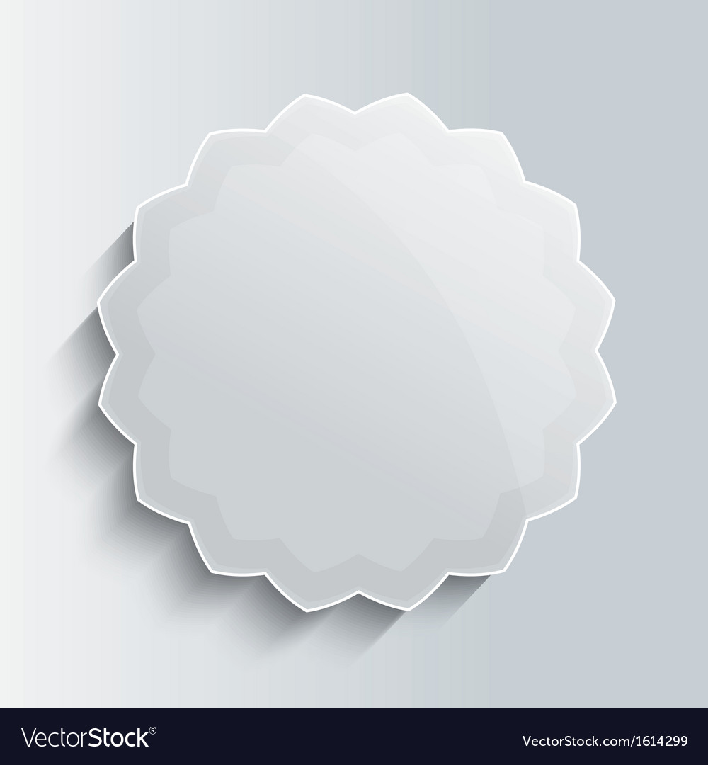 Glass star button template vector | Price: 1 Credit (USD $1)