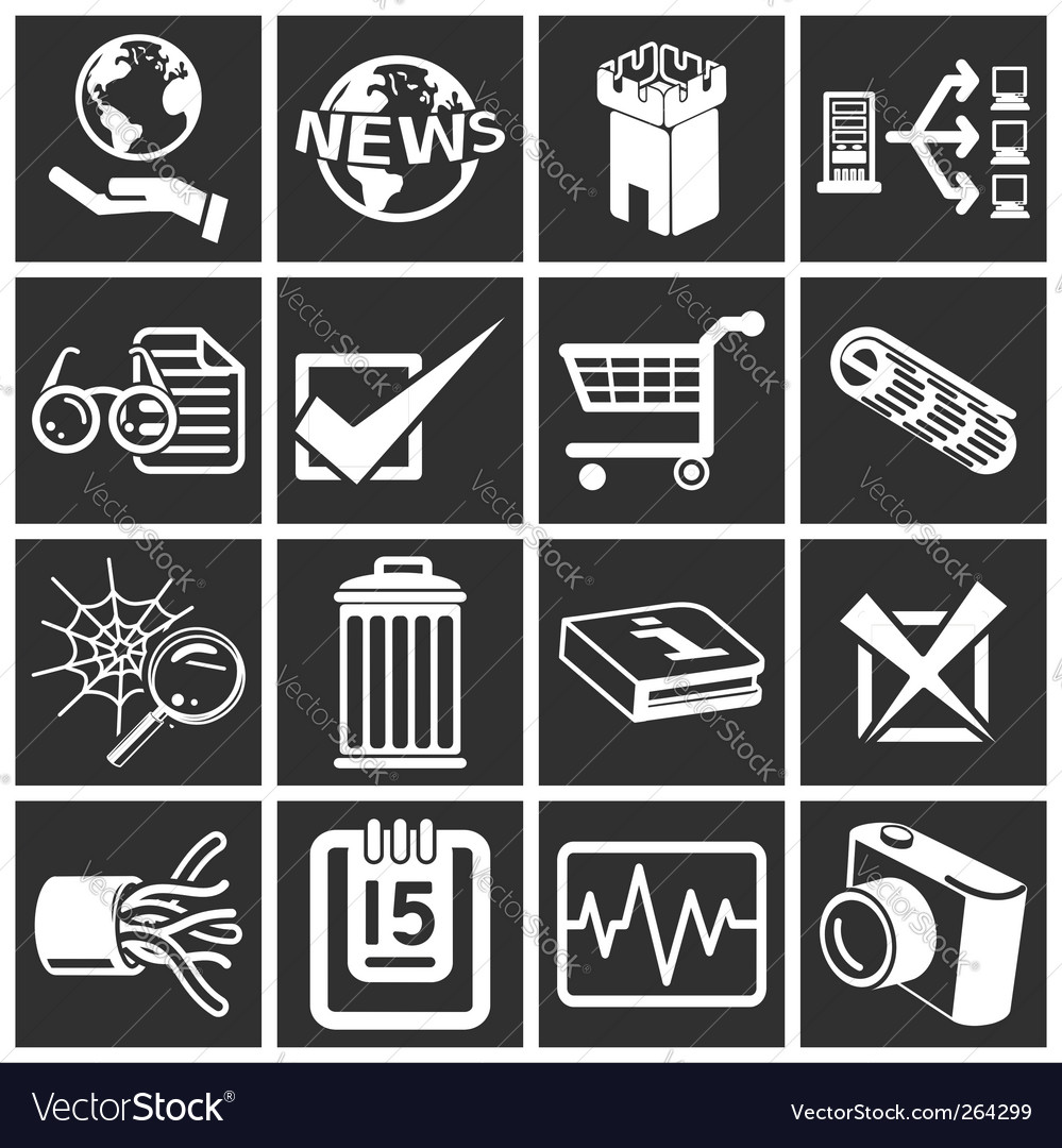 Internet web icons vector | Price: 1 Credit (USD $1)