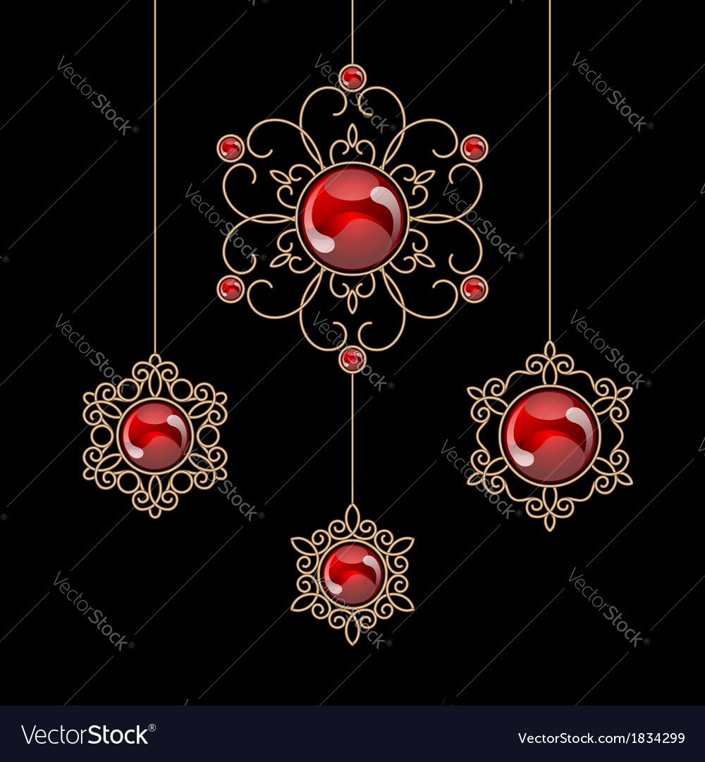 Jewelry pendants vector | Price: 1 Credit (USD $1)