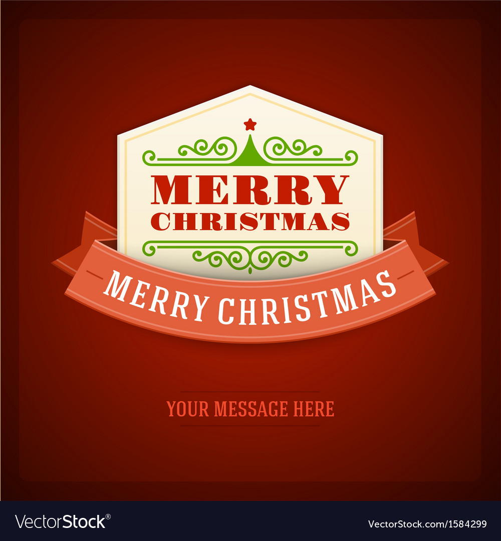 Merry christmas card ornament decoration vector | Price: 1 Credit (USD $1)