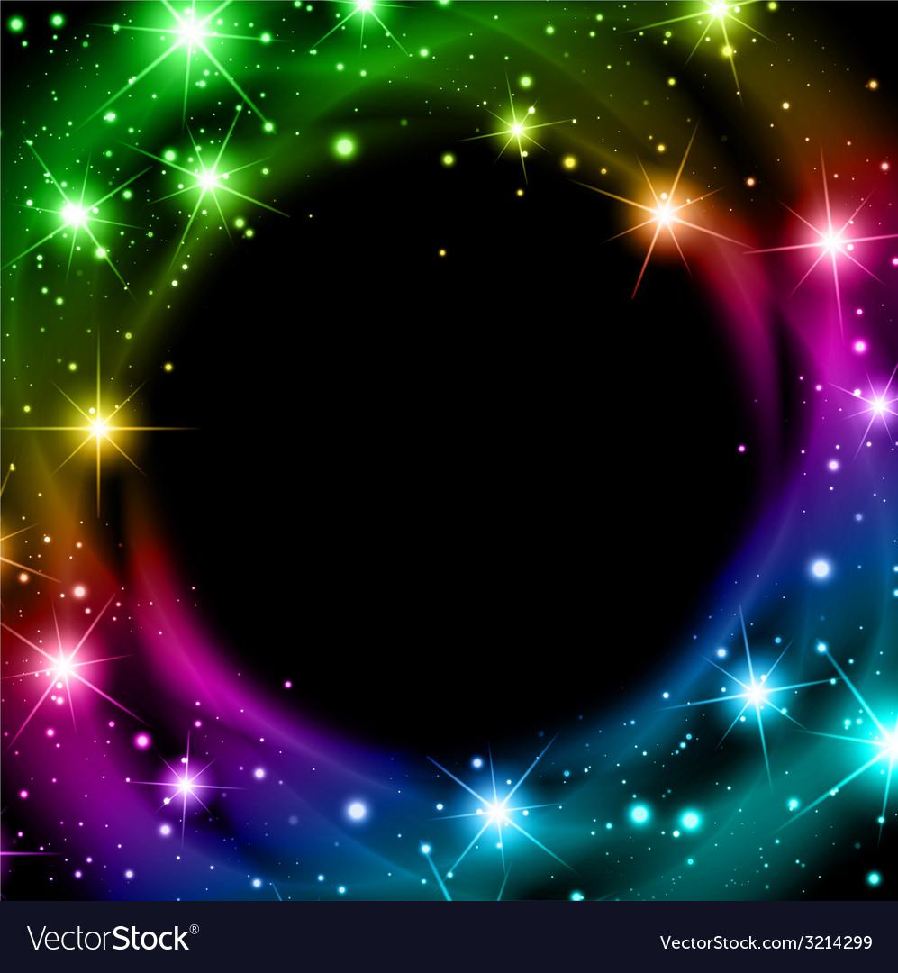 Multicolored night bright star background vector | Price: 1 Credit (USD $1)