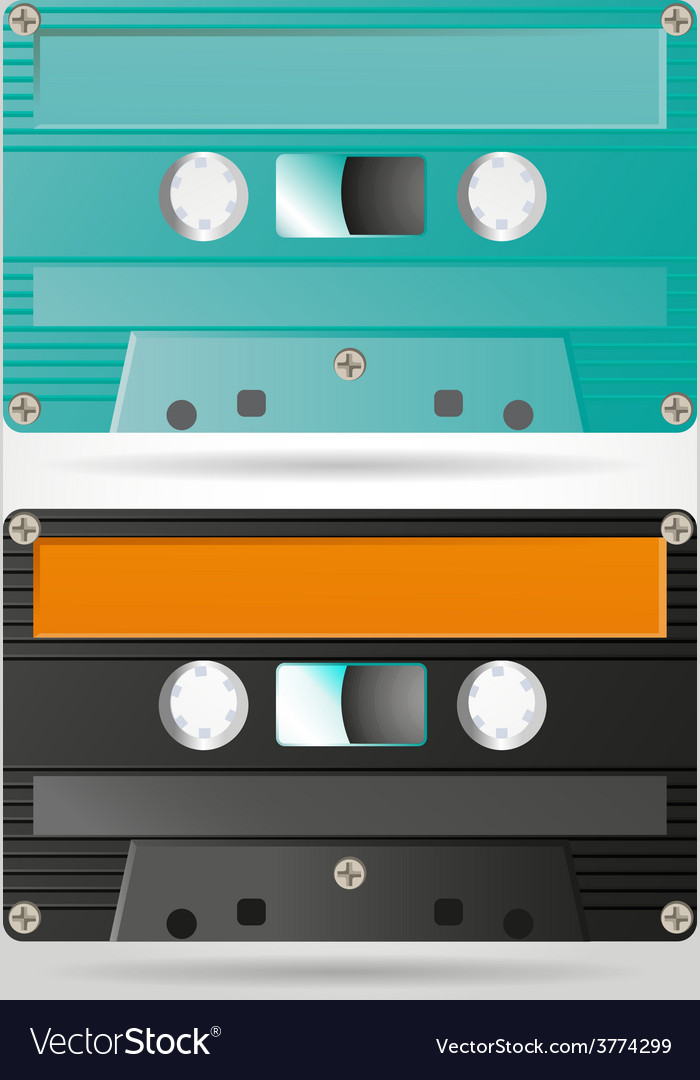 Retro cassettes vector | Price: 1 Credit (USD $1)